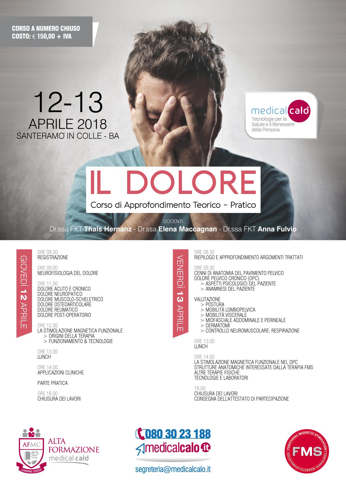 locandina_corso_IL-DOLORE_aprile2018